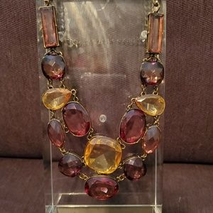 NWOT Ann Taylor Purple/Yellow Statement Necklace